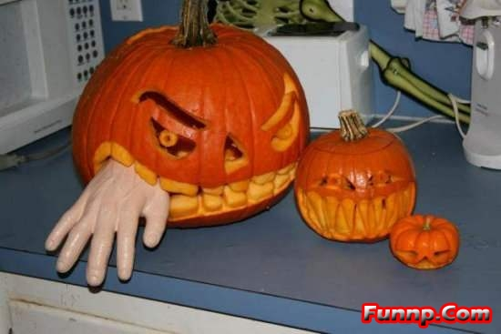 pumpkin master pieces given by master thesis of degree college students scary faces and flashers are all source of fun and not for the